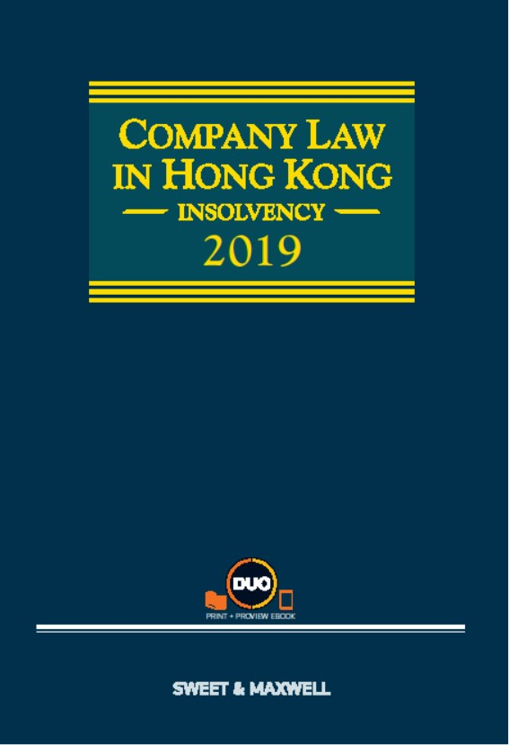 Company Law in Hong Kong: Insolvency, 2019