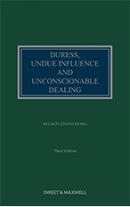 Duress, Undue Influence and Unconscionable Dealing 3Ed
