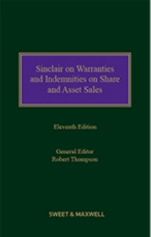 Sinclair on Warranties and Indemnities on Share and Asset Sales 11th Edition