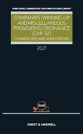 COMPANIES (WINDING UP AND MISCELLANEOUS PROVISIONS) ORDINANCE (CAP.32): COMMENTARY AND ANNOTATIONS 2020